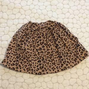 Carter's 5T leopard corduroy skirt